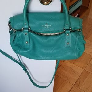 Kate Spade turquoise leather bag